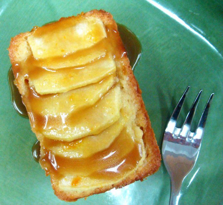 Apple Dessert Cake with Brandy Caramel Sauce