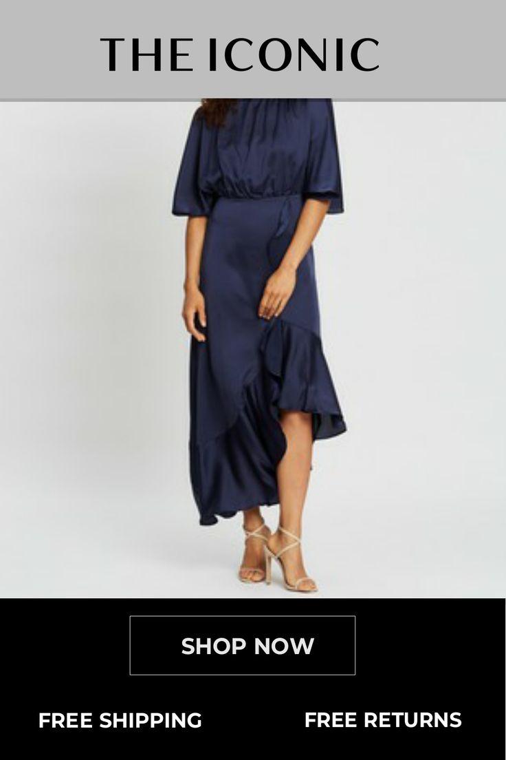 Corinne Open-Sleeve Dress