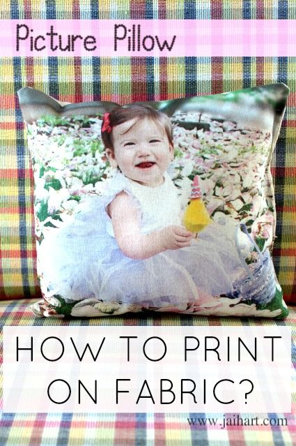 Fabric printing using freezer paper. How to print on fabric tutorial. Step by step tutorial to make photo pillow. Make a throw pillow with your picture idea