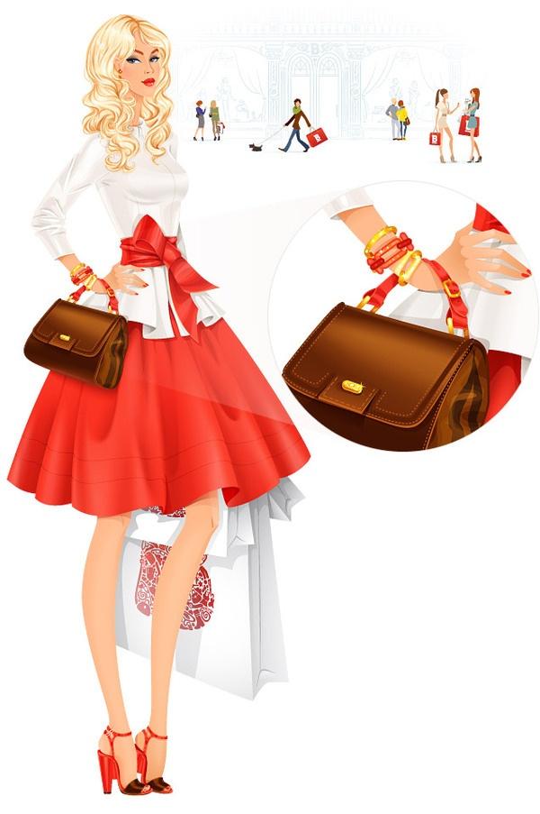 Fashion girl.   Illustrator — Svitlana Makarova