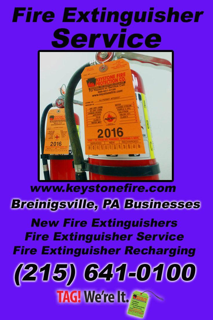 Fire extinguisher service breinigsville pa 215 641