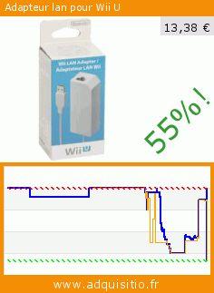 Adapteur lan pour Wii U (Accessoire). Réduction de 55%! Prix actuel 13,38 €, l'ancien prix était de 29,99 €. http://www.adquisitio.fr/nintendo/adapteur-lan-wii-u