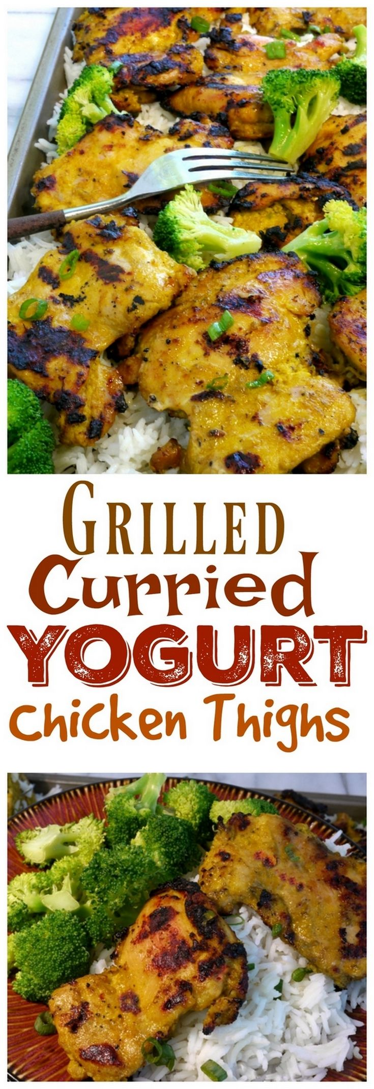 Jazz up your chicken with these Grilled Curried Yogurt Chicken Thighs. They add a new dimension and look to your regular grilled chicken recipe. Give it a try this week, from NoblePig.com. via @cmpollak1