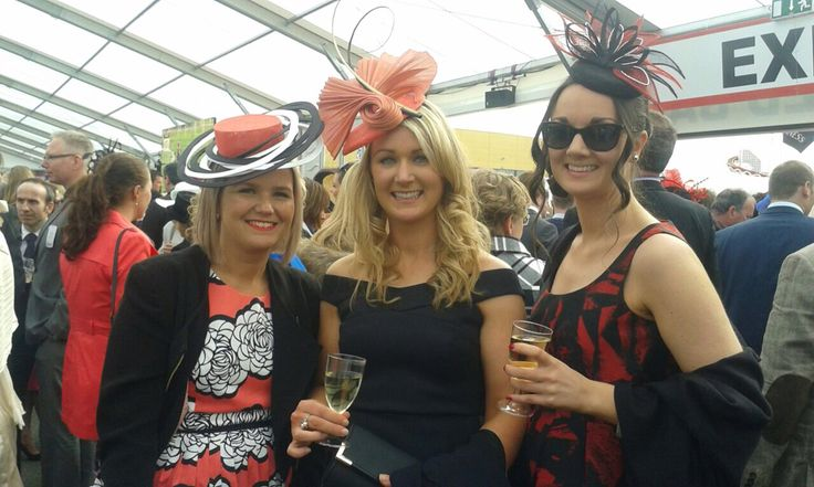 Ladies Day at Punchestown 2015. Headpieces by Emily O'Regan Millinery