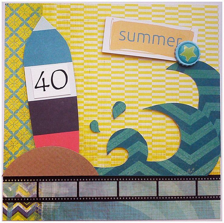 kartka z okazji 40 urodzin dla chłopaka z zajawką na sport! Oczywiście aktywnie – nie biernie, wszędzie i o każdej porze roku!  A jedna z jego ulubionych dyscyplin to surfing. Tak 3maj i oby bez kontuzj #kartka #birthdaycard #papercard #papercrafts #craft #handmadecard #handmade #kartkanaurodziny #scrapbooking #scrapbookingcards #rekodzielo #kartkaurodzinowa #urodziny