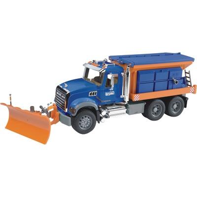 Bruder Mack Granite Snowplow Truck 1 16 Scale Model