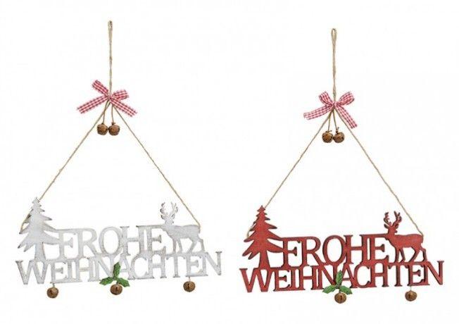 Frohe Weihnachten Dekohänger in 2 Farben