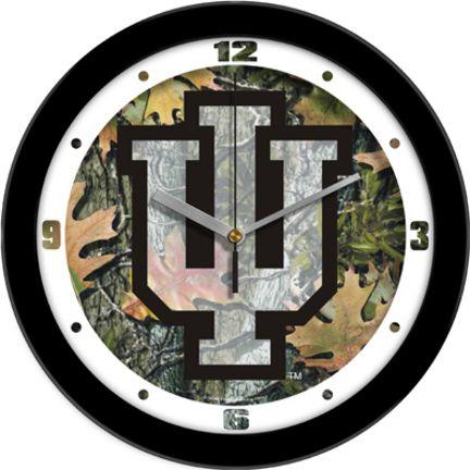 Indiana Hoosiers 12 inch Camo Wall Clock