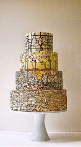 Torta de casamiento original artistica en amarillo | artistic yellow wedding cake: Yellow Wedding Cakes, Yellow Weddings, Ideas Bodas, Cakes Decor, Ideas Originals