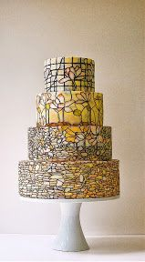 Torta de casamiento original artistica en amarillo | artistic yellow wedding cake