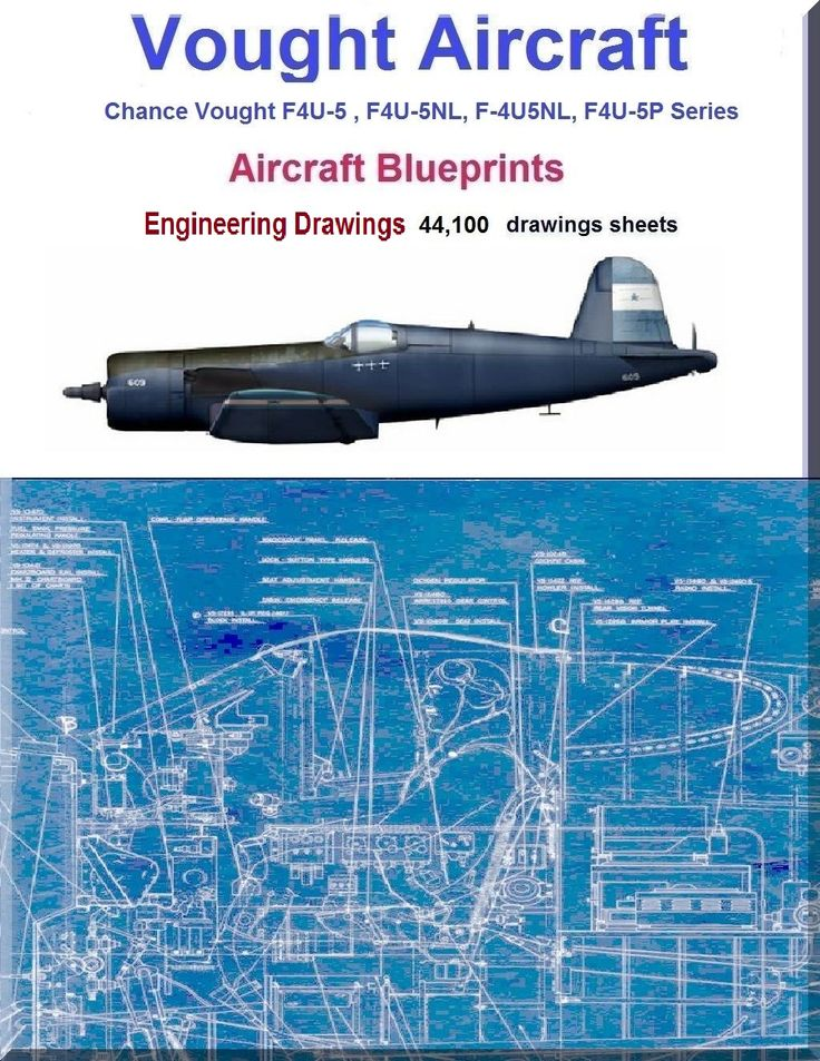 Chance Vought F4U-5 , F4U-5NL, F-4U5NL, F4U-5P Series Airplane Aircraft  Engineering Drawings Blueprints 49 DVD