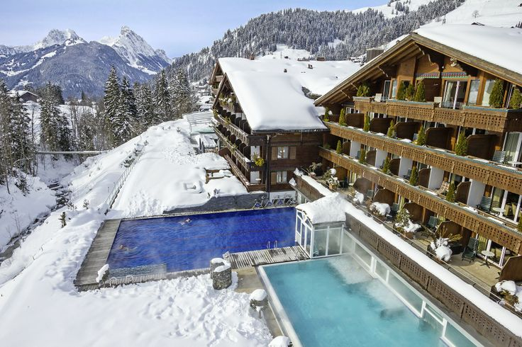 Winter view of the Wellness- & Spa-Hotel Ermitage