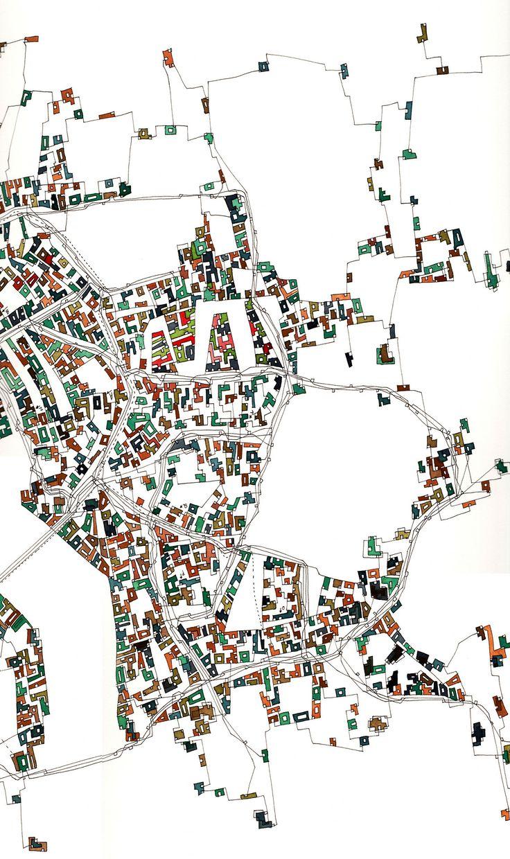 Fabrice Clapiès - Tolérance géométrique aux limites d'une ville normale 66x30cm drawing watercolor paper 102x66cm