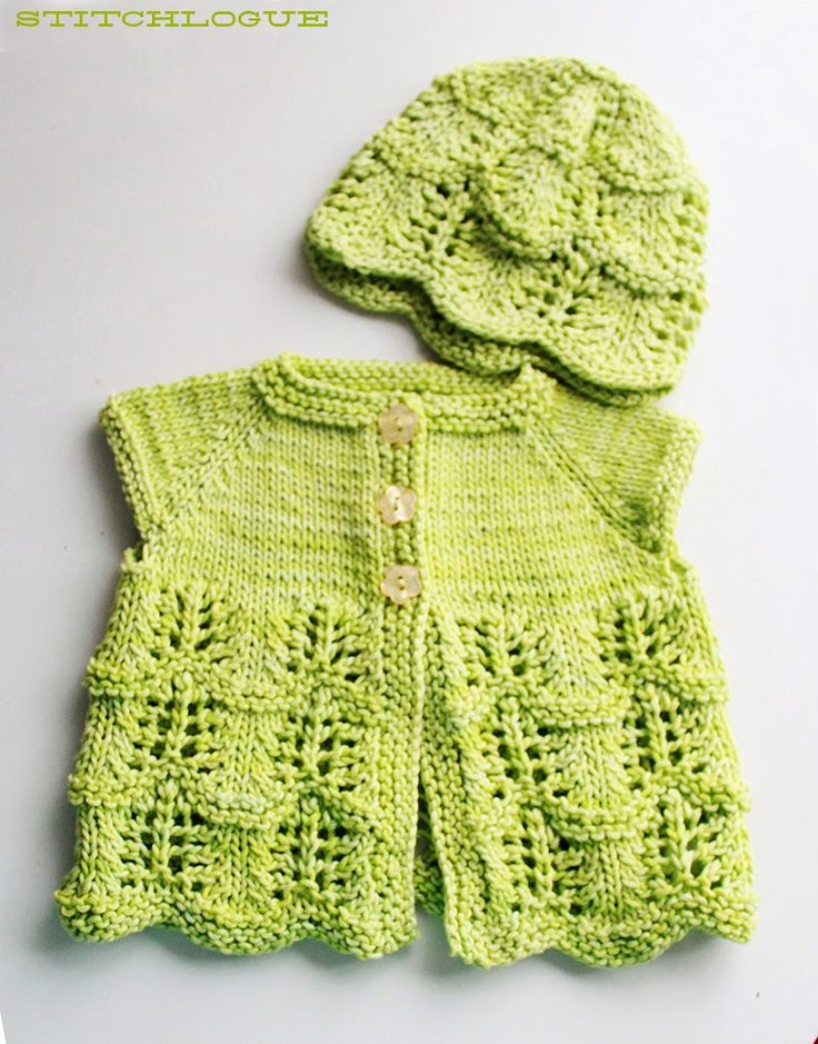Stitchlogue Blog: handmade by Calista: Free Knitting Pattern: Lily's Cardigan