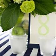 photo plum orange lime green wedding party
