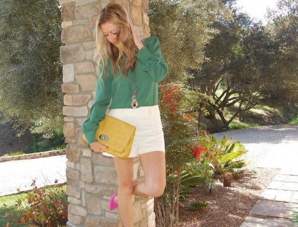 the stylish housewife - spring color blocking