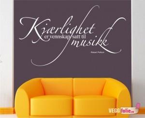 Kjærlighet er vennskap satt til musikk