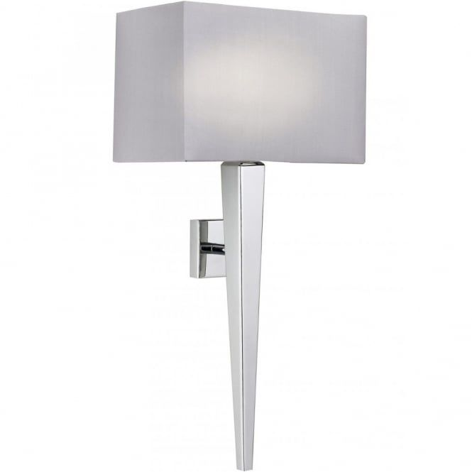 Contemporary Polished Chrome Wall Light with Shade