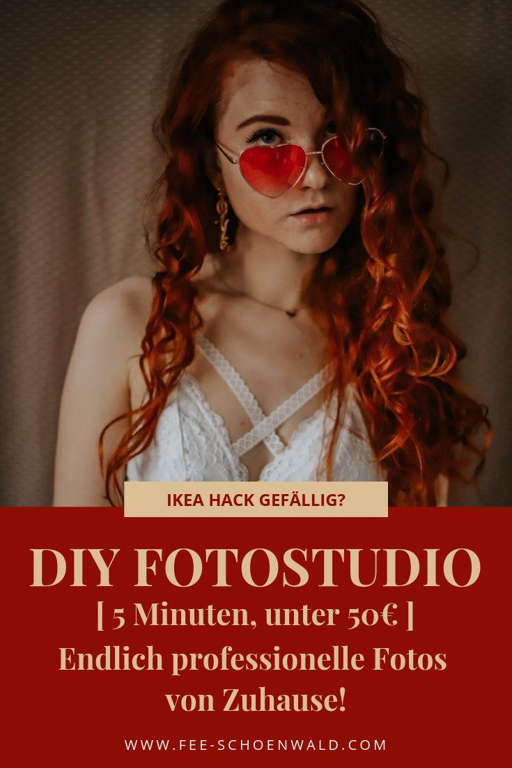 DIY Low Budget Foto Studio für zuhause. Ikea Hack. Günstiger Hintergrund für Porträt Fotografie zuhause. #fotohack #fotografie #porträt #lowbudge…