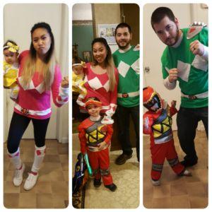 DIY Power Ranger Costume for family - MyLilyBelleLife