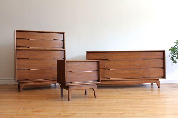 Scandinavian Metro Teak Wood Bedroom Furniture 5PC Set ...