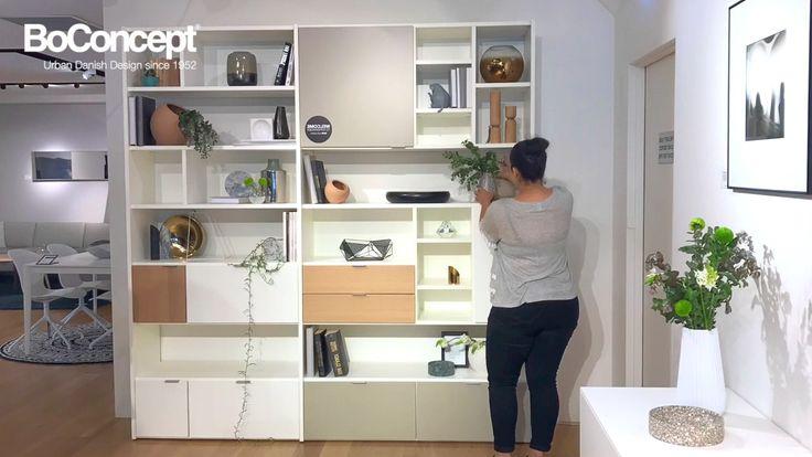 Copenhagen Wall Unit interior styling by BoConcept Sydney