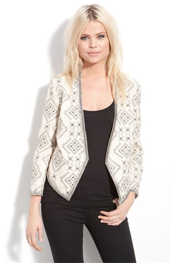 Parker embroidered linen matador jacket at Nordstroms - not something on the list but a great accent piece that can make an outfit