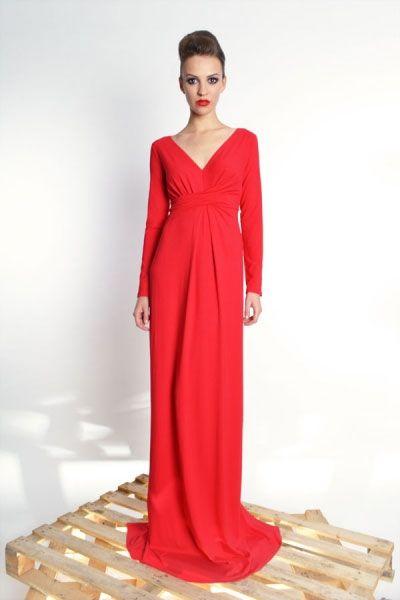 Steffany Maxi - długa suknia z udrapowaniem | Milita Nikonorov oficjalny butik projektantki