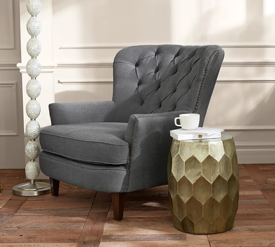 Corner Sofas Cardiff: Cardiff Tufted Upholstered Armchair