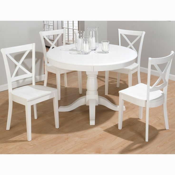 Wonderful White Round Extendable Dining Table And Chairs