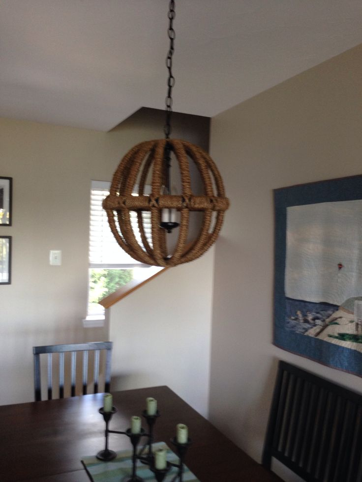 Diy Rope Sphere Chandelier Lighting Pinterest Diy