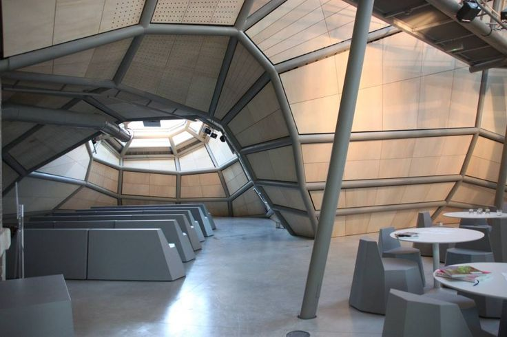 Q&M foam furniture in FRAC Centre Orléans (by JAKOB+MACFARLANE architects)