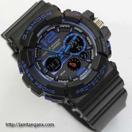 jam tangan g shock GAC110 warna hitam biru