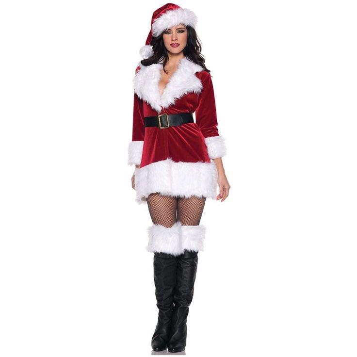 Secret Santa Costume Adult Mrs Ms Miss Claus Sexy Outfit Christmas Fancy Dress #Underwraps