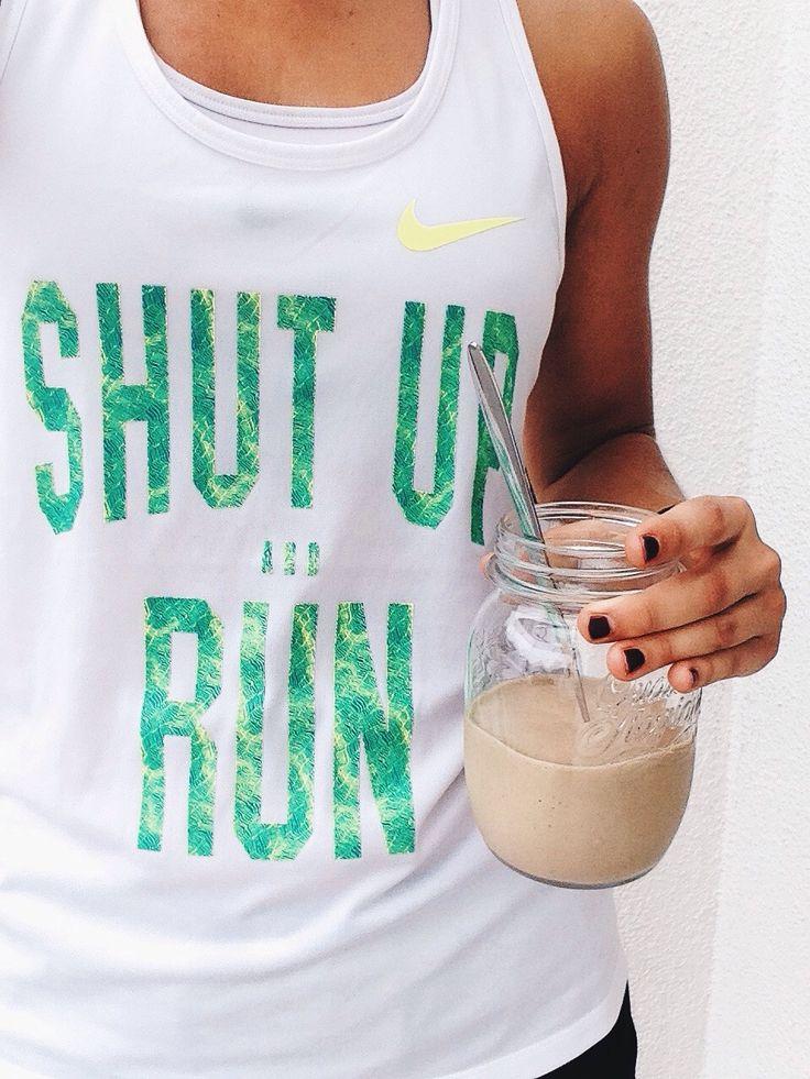 Shut up and run. Fitness tee .. pinterest:  katepisors