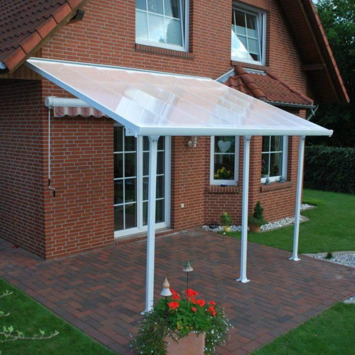 Palram Feria White Patio Cover 10 Ft Wide Various Lengths Detail 3 Outdoor Kitchen Design Patio Awning Pergola Patio