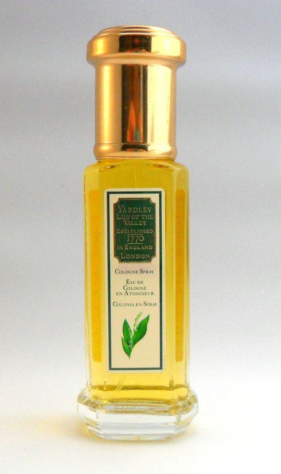 Vintage 1980s Lily of the Valley by Yardley 1 oz Eau de Cologne Spray ORIGINAL FORMULA PERFUME