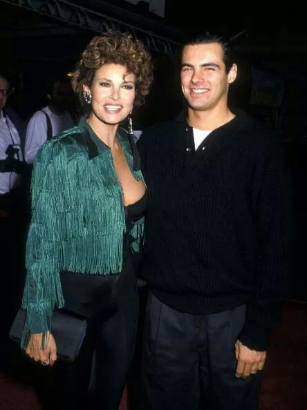 Raquel Welsh and son, Damon