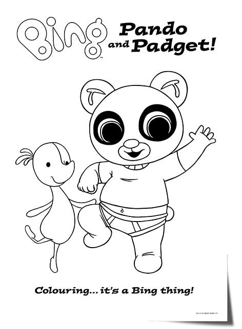 Bing_lineart_pando_Padget | Bing Bunny | Pinterest