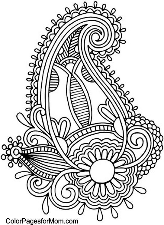 for Paisley designs coloring pages