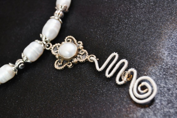 FREE EARRINGS with Necklace fresh water pearls and by Livingforce, $60.00
