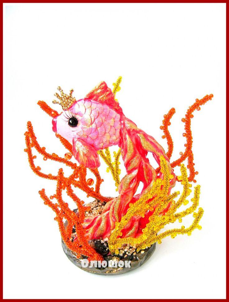 Золотая рыбка   biser.info - всё о бисере и бисерном творчестве