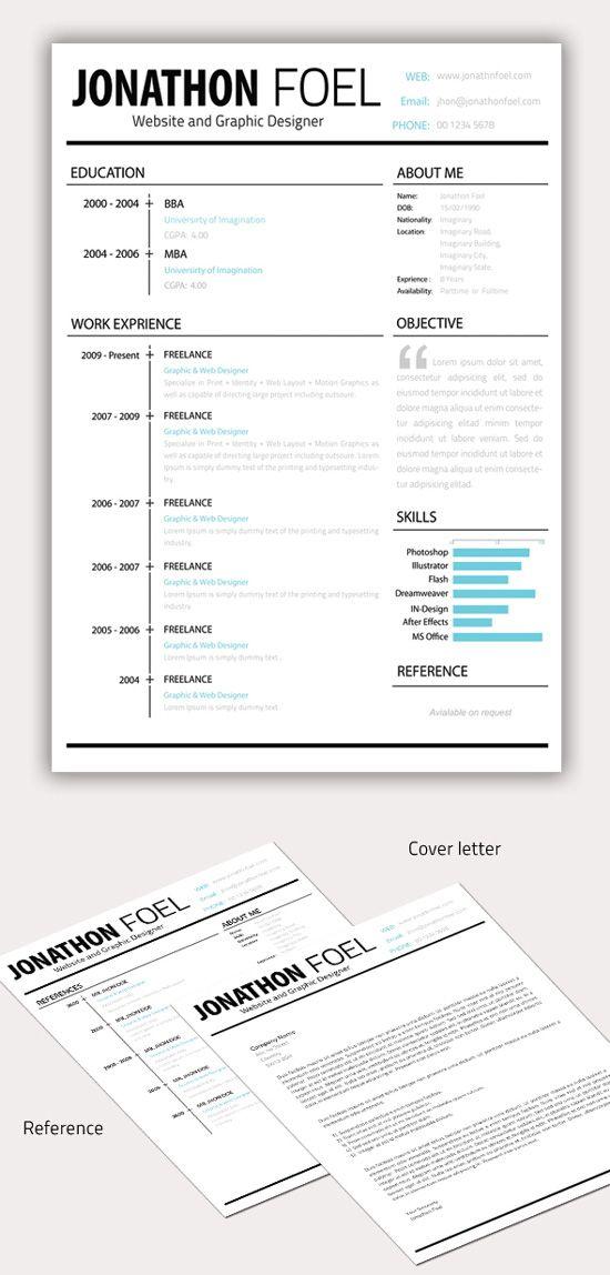 Best 25+ CV images on Pinterest Resume templates, Creative