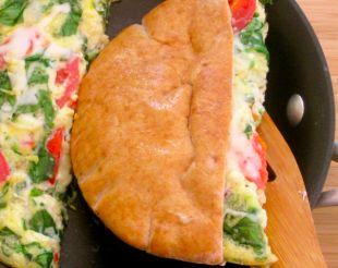 Pita Pocket Breakfast Sandwich