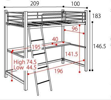 M s de 25 ideas incre bles sobre litera escritorio en for Medida estandar de colchon de una plaza