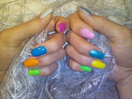 #bunt#ostern#uv gel#nail#nails#gel nail#