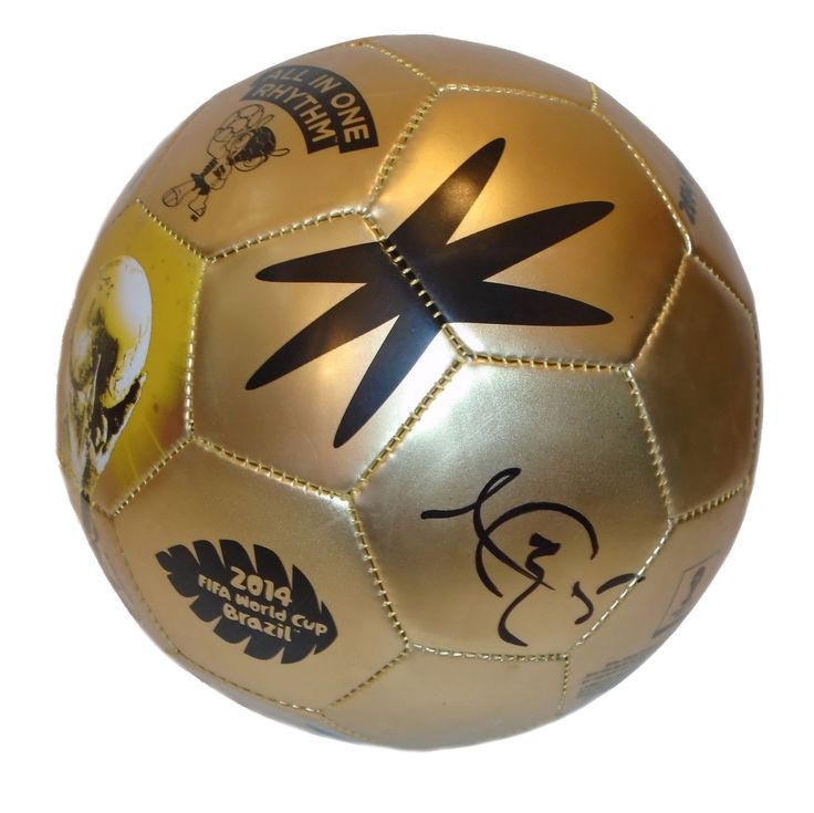 Kyle Beckerman Autographed 2014 FIFA World Cup Gold Soccer Ball, PSA/DNA Authenticated