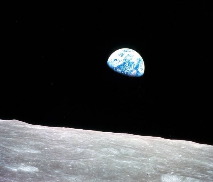 """Earthrise,"" astronaut Bill Anders' photograph of Earth, taken Dec. 24, 1968, has been called one of the 100 most influential images ever. The image is one of thousands available on the NASA Images website.  (NASA/NASA) ... #Photo #Photography #Nature #NaturePhotography #Landscapes #Sunsets"