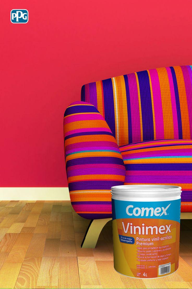Vinimex: Pintura vinil-acrílica de alta calidad. Sus colores vibrantes llenarán de energía los espacios de tu hogar.  #ProductosComex #Comex #ComexLATAM #Colorful #Colores #Colors #Hogar #Inspiracion #Ideas #DIY #Home