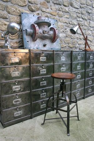 Ricks Office: Industrial Metal Filing Cabinets.